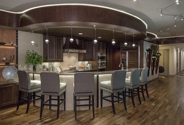 Condo on the Riverfront contemporary-kitchen