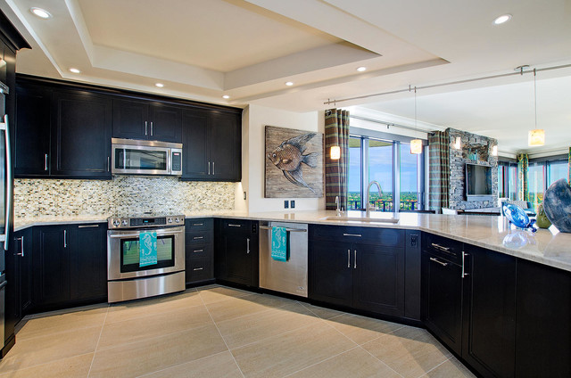 Condo Remodel Naples, Florida contemporary-kitchen