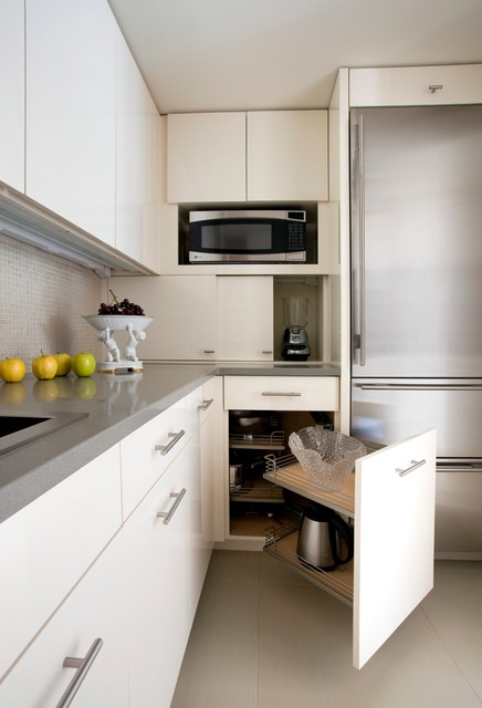 Condo Renovation Contemporary Kitchen Boston By S H Construction