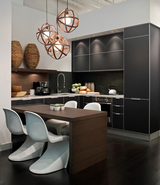 Condo residence on spruce street modern kitchen vancouver by kodu design - Modern kitchen small space decor ...