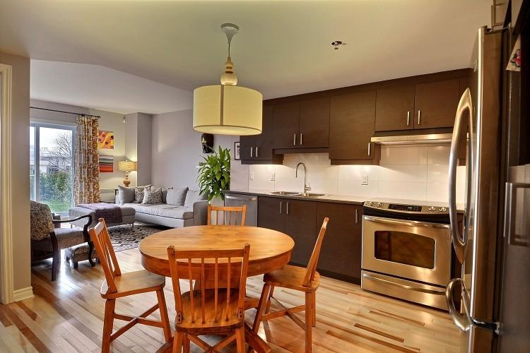 Condo Ville St Laurent Eclectic Kitchen Montreal By Hibou Design Co