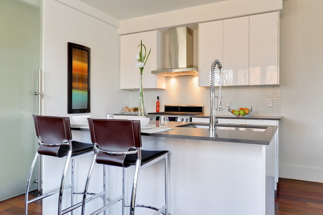 Condos on Plateau Mont-Royal contemporary-kitchen