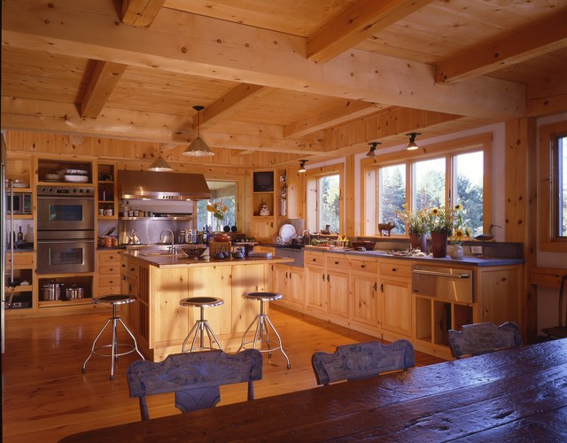 Connecticut Barn Style Home 4500 Farmhouse Kitchen Boston By Timberpeg