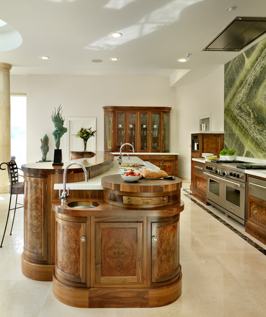 Contemporary and Traditional Mix transitional-kitchen