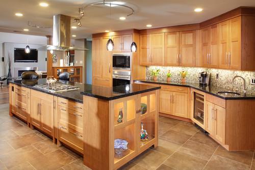 Light Brown Kitchen Cabinets Countertop Design Ideas