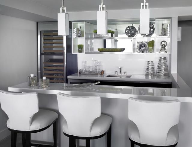 Contemporary Bar Area contemporary-kitchen