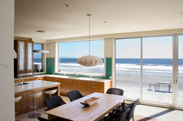 Contemporary beach house beach style kitchen san for Beach house kitchen designs