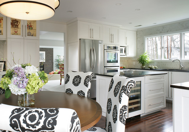 Cherry Hill Kitchen Eating Area Island Transitional