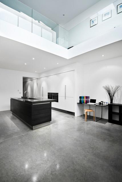 Contemporary Black White German Kitchen Contemporary