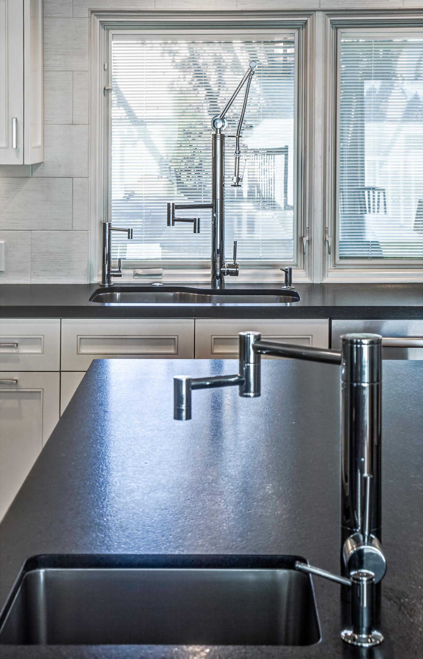 Contemporary Black & White Kitchen