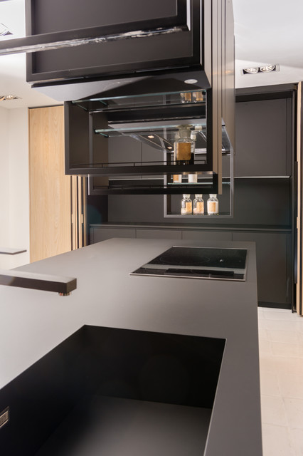Contemporary black matte kitchen kitchen other by for Matte black kitchen doors