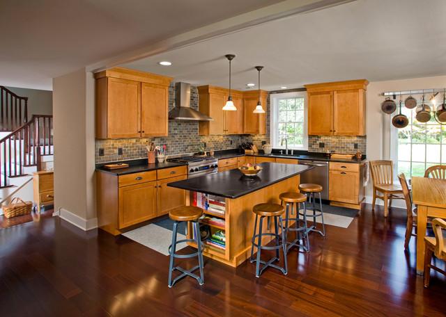 Contemporary Cape in Bucks County, PA traditional-kitchen