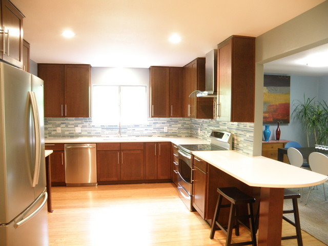 Contemporary Cherry Kitchen - Contemporary - Kitchen - Other - by UB ...