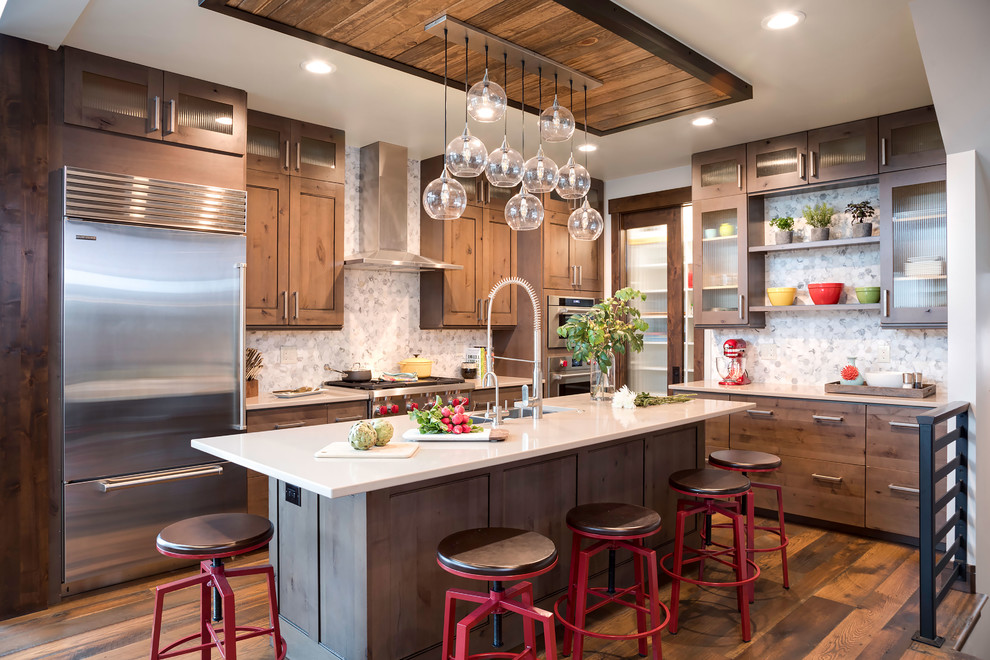 Contemporary Chic Chalet - Rustic - Kitchen - Denver - by ...