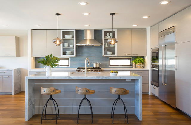 Contemporary coastal coronado contemporary kitchen for Coastal contemporary design
