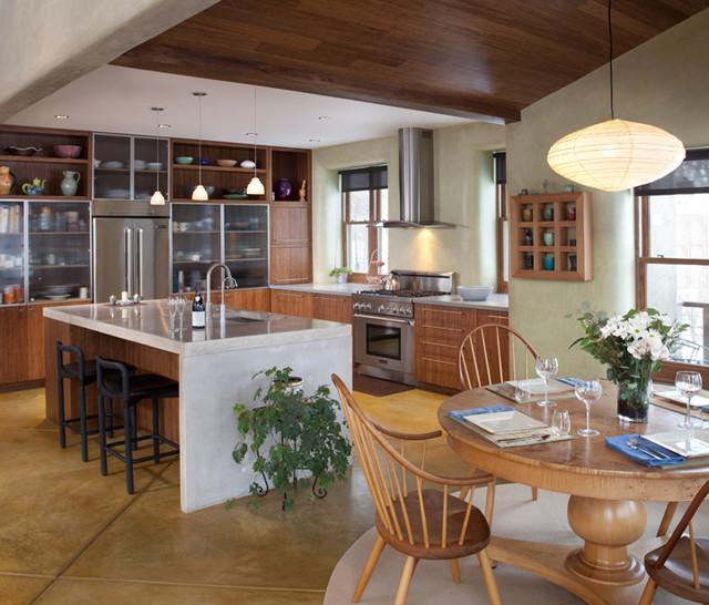Contemporary Colorado Strawbale contemporary-kitchen
