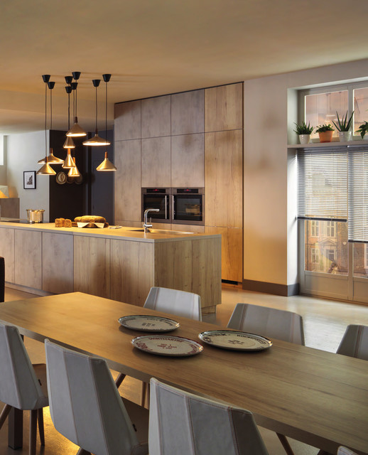 Contemporary Concrete Wood Cabinets Kitchen Contemporary Kitchen London By Schmidt Barnet Kitchens Interior Solutions