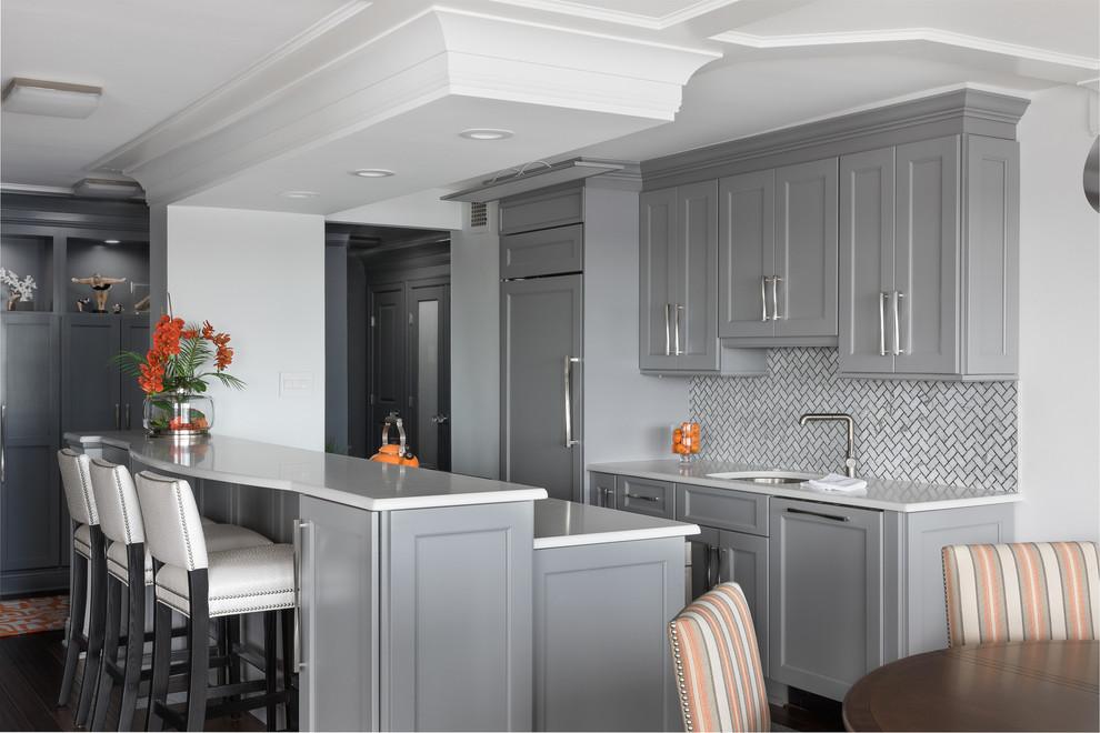 Contemporary Condo Red Bank Nj Kitchen Newark By Sheila Rich Interiors Llc