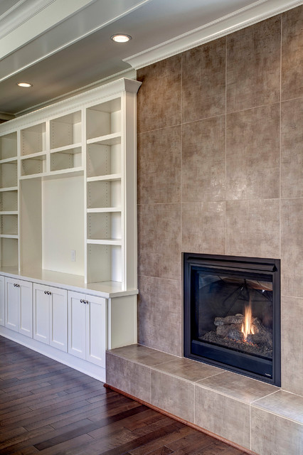 Contemporary/Craftsman Bellevue Fireplace - Contemporary - Kitchen - seattle - by Discount Tile ...