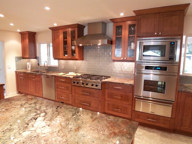 Contemporary Craftsman Cherry Kitchen - modern - kitchen - san