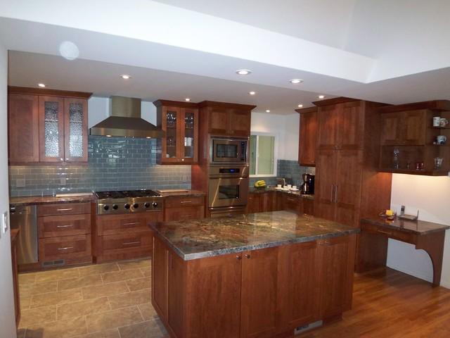 Contemporary Craftsman Cherry Kitchen Modern Kitchen