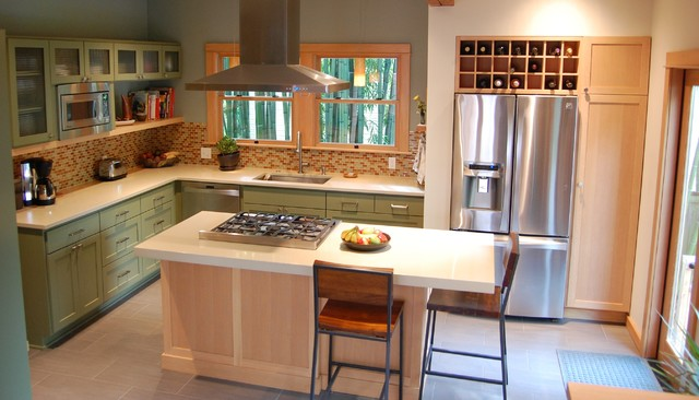 Contemporary Craftsman Kitchen - Craftsman - Kitchen - portland - by Weedman Design Partners