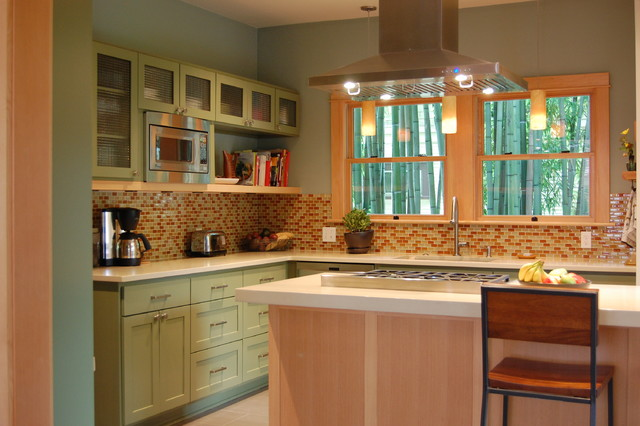 Inspiration For A Craftsman Kitchen Remodel In Portland With Mosaic Tile  Backsplash, Stainless Steel Appliances