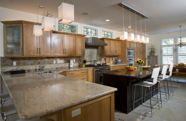Contemporary Craftsman Style Kitchen - contemporary - kitchen ...