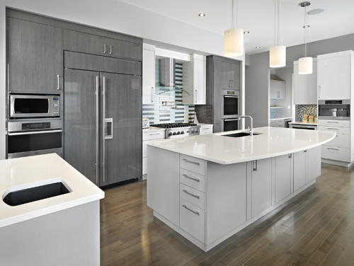 Cupboards A Gloss Laminate Or 2 Pac What Is The Name Of Colour. Kitchen  Typical Kitchenwhite Wooden Laminate Countertop White ...