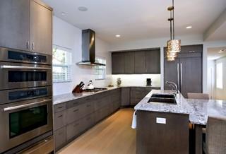 Contemporary Dark Grey Kitchen Bath