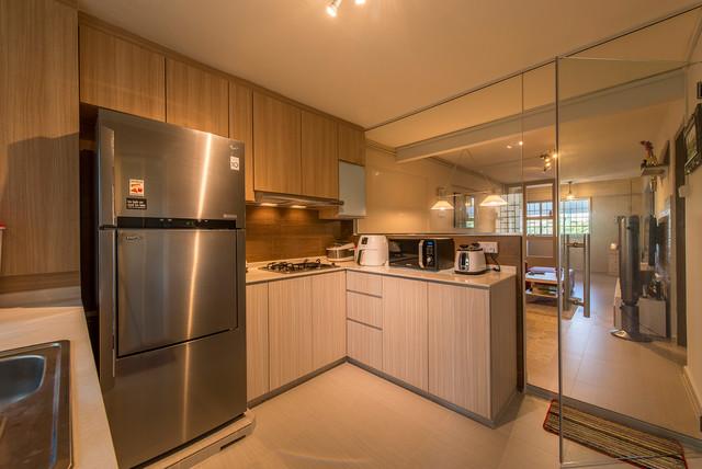 Contemporary Design (Bedok Reservoir HDB 3 Room) Contemporary Kitchen