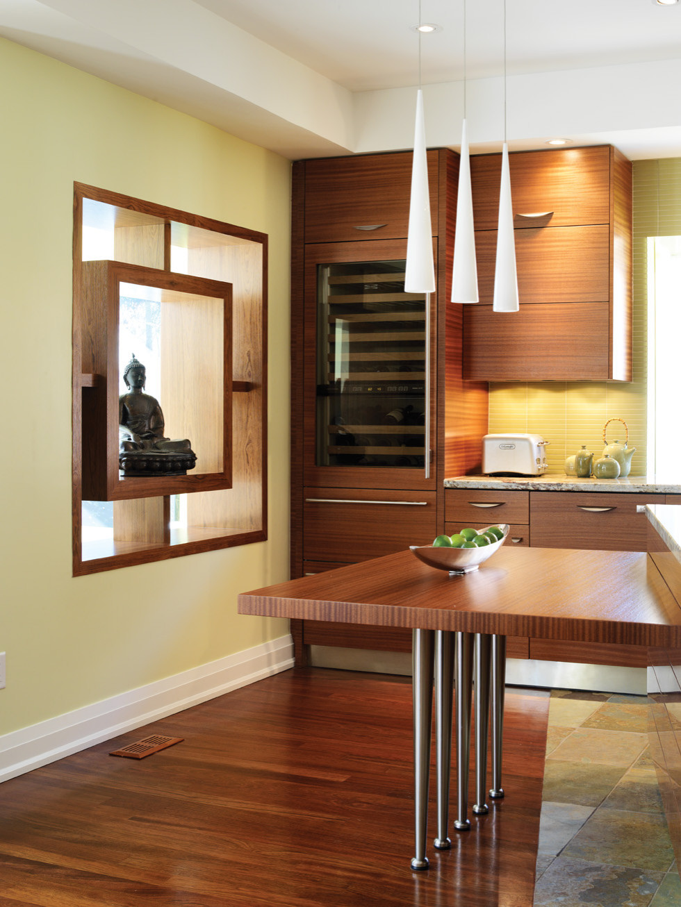 Contemporary Design with High Gloss wood grain