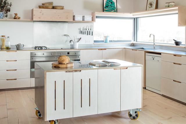Contemporary eco kitchen in the cotswolds   skandinavisch   küche ...