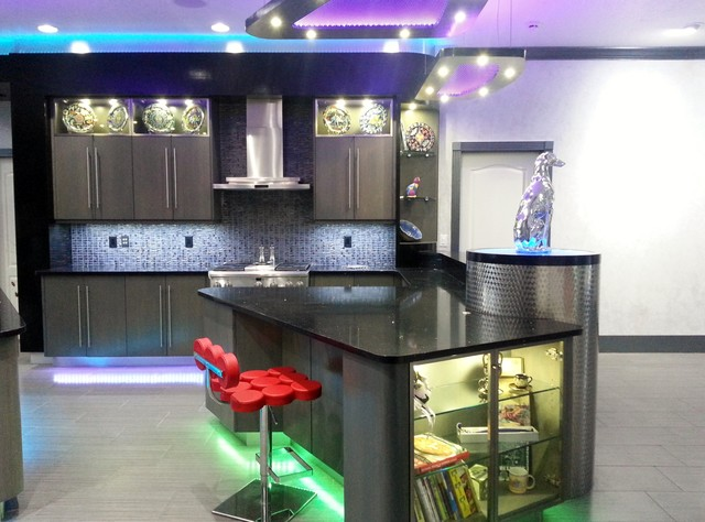 contemporary electro led kitchen modern kitchen other metro by tampa bay millworks
