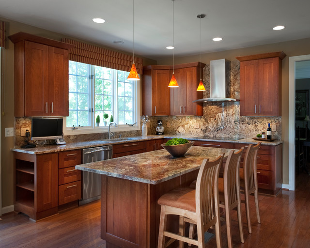 Contemporary elegance traditional kitchen dc metro for Kitchen countertops and cabinet combinations