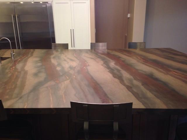 Contemporary Elegant Brown Quartzite Kitchencontemporary Kitchen Phoenix