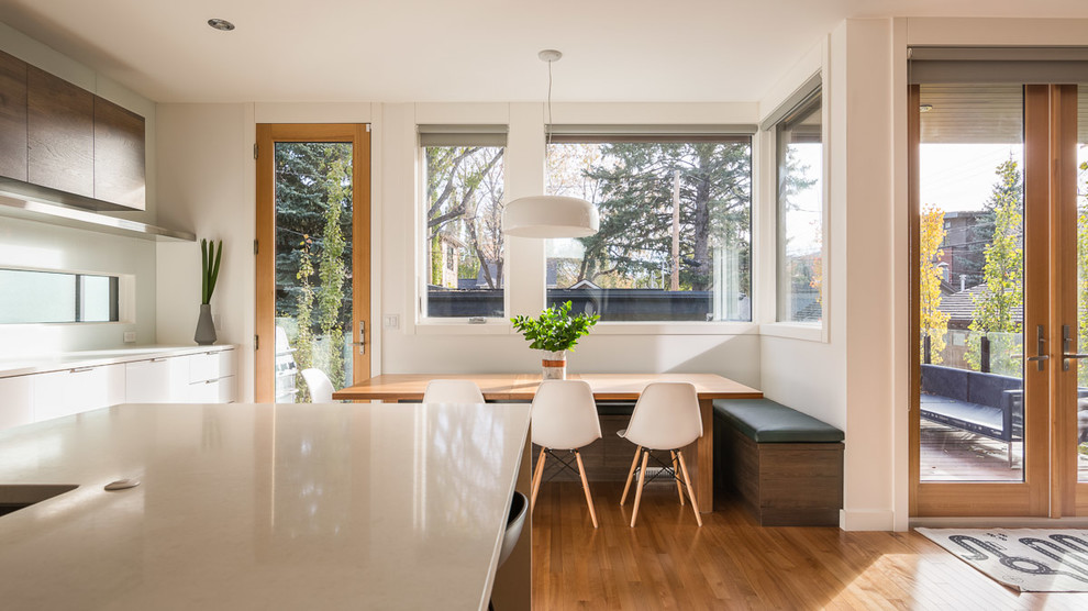Contemporary European Style Home With Walnut Contemporary Kitchen Calgary By Ateliers Jacob Kitchens Spaces Calgary