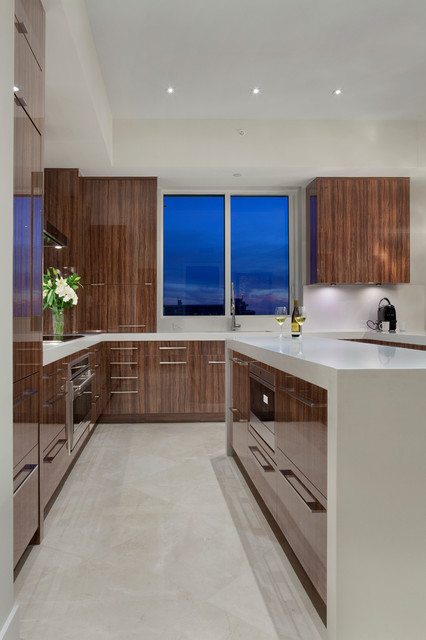 Contemporary Fort Lauderdale Condominium Contemporary Kitchen Other Met