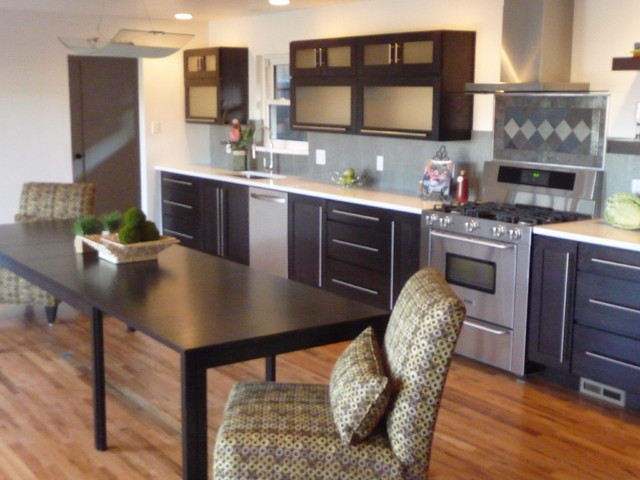 Contemporary Fusion Kitchen Gut and Remodel contemporary-kitchen