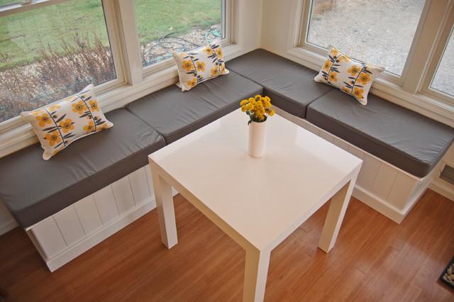 Contemporary Gray Breakfast Nook Cushions Kitchen