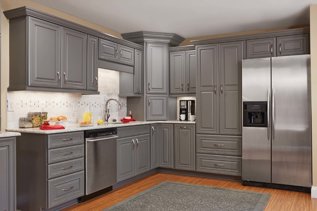Contemporary Grey Kitchen  Traditional  Kitchen  Orange County  by