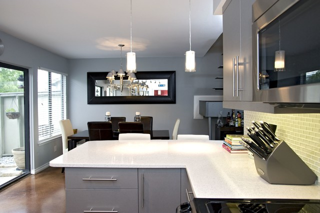 Contemporary High Gloss Foil Kitchen - Contemporary - Kitchen - other metro - by UB Kitchens ...