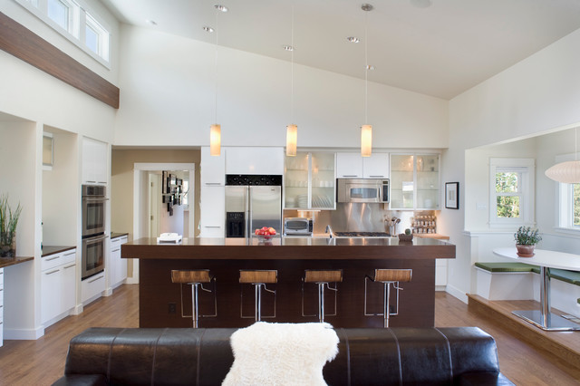 Contemporary Hillside Residence contemporary-kitchen