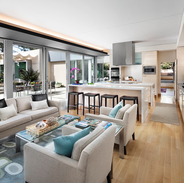Contemporary Italian Country House Living Room Modern Kitchen
