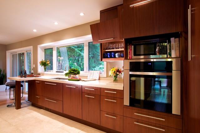 Contemporary kitchen for Andros kitchen bath designs