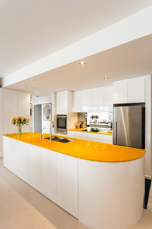 yellow countertops-Mission Stone Tile