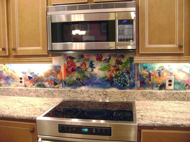 Contemporary Kitchen Backsplash and Murals - Eclectic - Kitchen ...