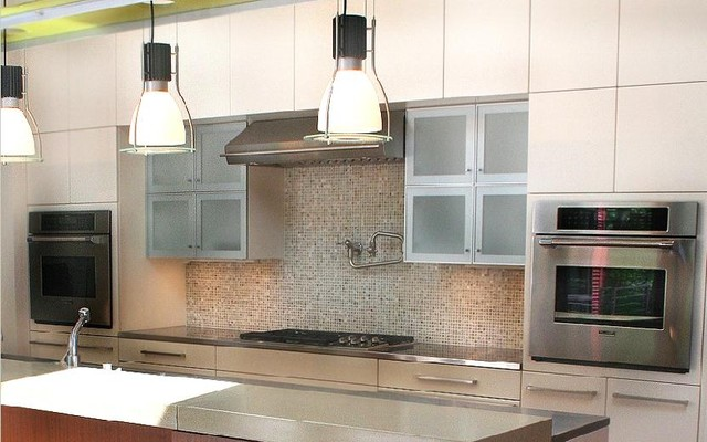 Contemporary kitchen backsplash wall tile contemporary kitchen toronto by cercan tile inc Modern kitchen tiles design pictures