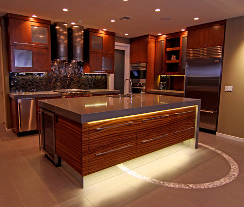 under countertop lighting. Gorgeous Contemporary Kitchen Featuring Under-counter Lighting And Toe Lighting. Photo Source: Gilbert \u0026 Bath Designers BeautifulRemodel.com. \u201c Under Countertop