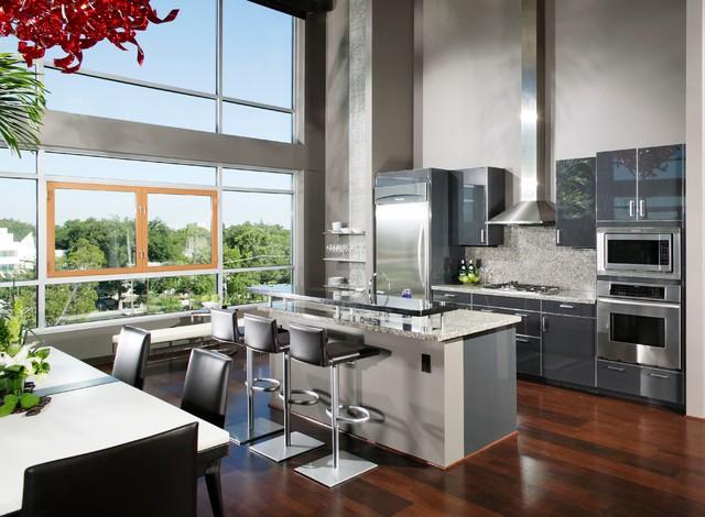 L Street Penthouse Contemporary Kitchen Sacramento By Benning Design Construction
